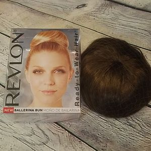 New Revlon Med Brown Ready to Wear Bun